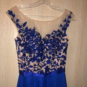 Royal Blue Sherri Hill Prom Dress